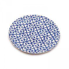 Granada Salad Plate 23cm Blue D1 Front