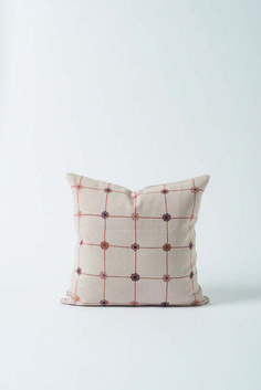 Joni Cushion Cover - Named after Joni Mitchell & inspired by the classic style, this cushion cover features a inspired colour palette and an orderly floral grid pattern.