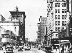 Image-Beers Hotel at Grand and Olive in the 1890's. Image-World Theater at 3627 Grandel Square. Image-St. Louis Theater, now Powell Symphony Hall.