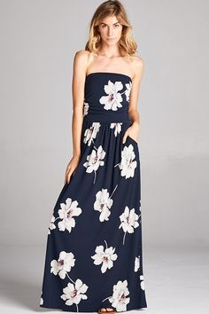 ca2aaca8bc3 A cheerful floral pattern imbues this maxi with effortless charm