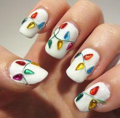 mixed color nail art