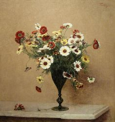 "Henri Fantin-Latour ""Chrysanthemums"" c. 1889 by Plum..."