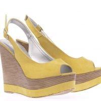 Arte Piedi πλατφόρμα peep-toe καστόρ σε κίτρινο χρώμα