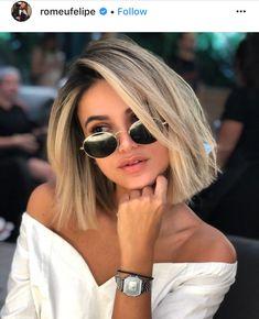 Hair short blonde balayage dark roots 38 Ideas for 2019 Blonde Hair With Roots, Edgy Blonde Hair, Dark Roots Hair, Short Blonde, Short Ombre, Blonde Blunt Bob, Dark Blonde, Dark Ombre, Blonde Highlights Bob Haircut