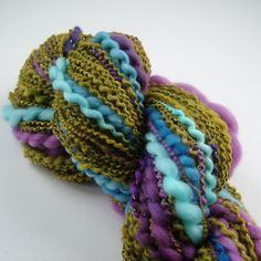 Handspun, merino, lurex, dyeing | by B.eňa