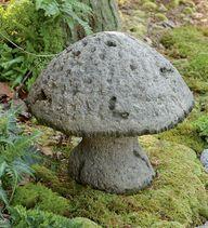 concrete mushroom - like shorter squatty stem