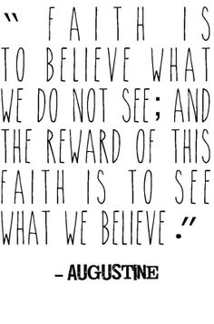 Christian faith Augustine quote typography print  by jenniferdare, $10.00