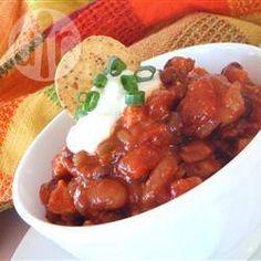 Chili met kip en mangosalsa @ allrecipes.nl