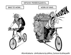Bike to Work #KomikJakarta @haryadhi