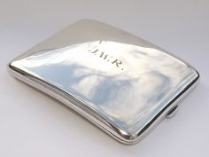 SPLENDID 133 GRAMS SOLID STERLING SILVER CURVED CIGARETTE CASE - BIRMINGHAM 1946