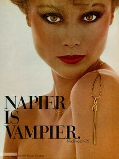 Napier advertisements Archives - The Napier Book & Online Source for Vintage Napier Jewelry Jewellery Advertising, Jewelry Ads, Retro Advertising, Hippie Jewelry, Vintage Advertisements, Book Jewelry, Tribal Jewelry, Jewlery, Vintage Makeup Ads