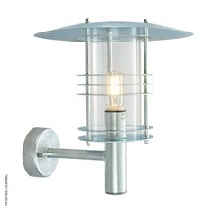 Stockholm ST1/G Wall Light Galvanized by Norlys @peterreidlighting #outdoorwalllight