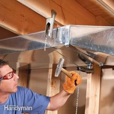 Install wider, flatter heating and cooling ducts (you can have them custom made) to increase headroom in your basement, especially when finishing the ceilin