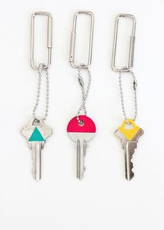 DIY color block keys