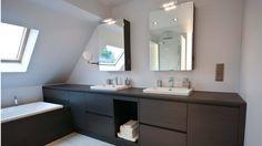 Badkamermeubel met bad geïntegreerd in meubel   Crivani