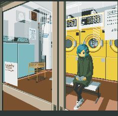 Animation The Loneliness Of Japan In Retro-Style GIFs - Big cities can feel lonely. The likes of Tokyo, Osaka and Nagoya are no exception. Pixel artist Motocross-Saito captures that loneliness in retro-style GIFs. Gifs, Vaporwave, Pixel Art Gif, Arte 8 Bits, Foto Gif, Pix Art, Pixel Animation, Aesthetic Art, Cute Drawings