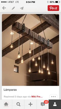 Brilliant way to hang Edison light bulbs... Simple made stunning!
