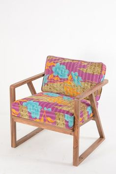 Retro 50's Chair with Kantha Fabric FT210-26