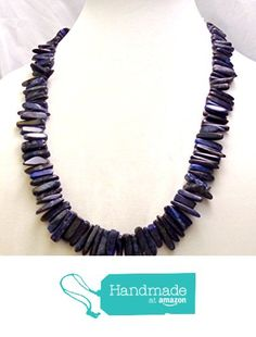 Large chip dyed blue lapis beaded necklace (659) from Celtic Mink Handmade Jewelry and Stuff https://www.amazon.com/dp/B01HB0QPRS/ref=hnd_sw_r_pi_dp_vS3zxbQ3MMHDV #handmadeatamazon