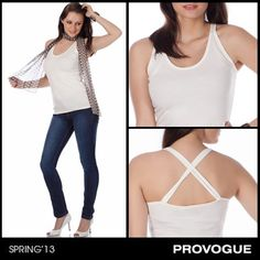 Stay stylish this summer with Provogue's haute tank top! Available in a variety of shades, this trendy number with strap detailing on the back is just right for a fun day at the beach. Check it out at a Provogue Store near you.