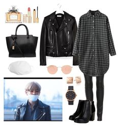 """Airport-Fashion (Taehyung Style)"" by parkjiminie ❤ liked on Polyvore featuring The Row, Yves Saint Laurent, Ray-Ban, Marc Jacobs and Christian Dior"