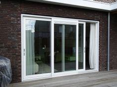 Driedelige kunststof schuifpui, waarbij twee deuren schuiven Windows, Doors