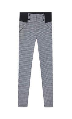 Legging pata de gallo - Pantalones de mujer | Stradivarius Leggings, Pajama Pants, Pajamas, Fashion, Clothing, Houndstooth, Women, Pjs, Moda