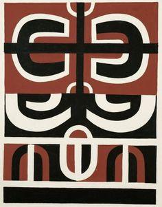 Sans titre juin 1957 Gordon Walters Symbols, Peace, Collections, Design, Art, June, Craft Art, Icons, Kunst