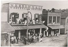 W.H. Brown & Co. Wholesale Grocers on Court Street in 1880