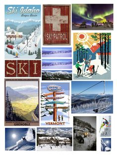 """""""Ski Collage"""" by pinkstars6 ❤ liked on Polyvore featuring art, Collage and ski"""