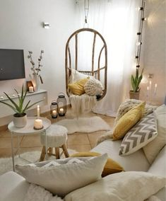 Understand the Best Ways to Decorate a Family Room with Living Room Designs Boho Living Room, Living Room White, Cozy Living Rooms, Living Room Decor, Bedroom Decor, Interior Design Minimalist, Interior Design Living Room, Living Room Designs, Living Room Inspiration