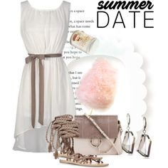 Summer Date: The State Fair by andrejae on Polyvore featuring Ancient Greek Sandals, Chloé, Kenneth Cole, statefair and summerdate