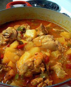 Puerto Rican Chicken Fricassee – Crazy Jamie