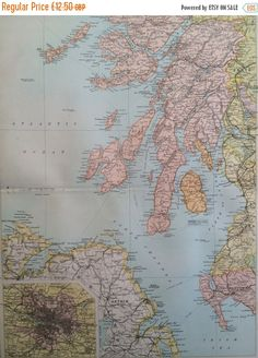 INDIA Large Original Antique Map X Inches - Antique maps for sale uk