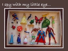 """'I Spy with My Little Eye'. limiting the choice of objects for this popular game - from Rachel ("""",) 2 groups. give them a few letters and ask them to put all the objects that start with that letter on the right cards. Jolly Phonics, Phonics Games, Teaching Phonics, Spy Games, Vocabulary Games, Teaching Resources, Eyfs Activities, Nursery Activities, Language Activities"""