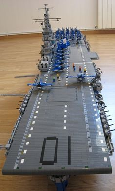 USS CV-10 Yorktown aircraft carrier: A LEGO® creation by E.L. Emmanuel Levet : MOCpages.com