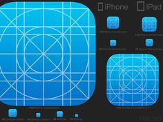 PSD Freebie: iOS7 Icon Template PSD