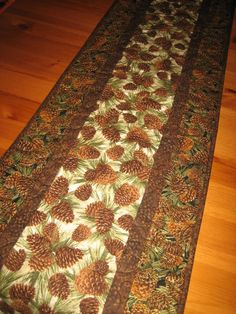Quilted Table Runner Pine Cones Mountain Cabin by TahoeQuilts, $44.00
