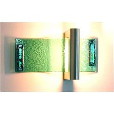 Transitional Wall Sconce from Adagio Art Glass, Model: A03G3 Sconce Light