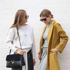 This coat throwback to the @viktoriaandwoods shoot with the beautiful @kirstenanderton @katie.fergus. Who else is obsessed with mustard right now? x