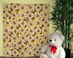Monkey Business - a handmade baby quilt for boys