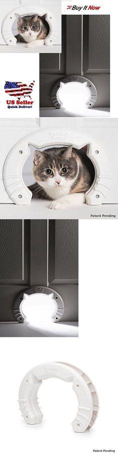 Doors And Flaps 117421: Cat Shaped Cat Door Medium Large Kitty Pass Pet Door