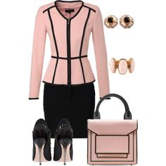 A fashion look from August 2015 featuring ESCADA jackets, Moschino mini skirts and Miu Miu pumps. Browse and shop related looks.