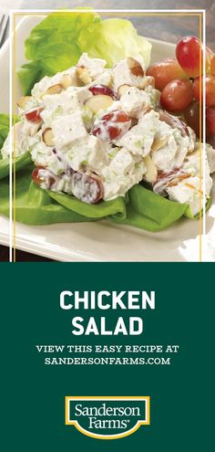 Healthy Snacks, Healthy Eating, Healthy Recipes, Appetizer Recipes, Dinner Recipes, Appetizers, Chicken Salad Recipes, Chicken Salad With Grapes, Chicken Salads