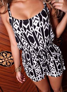 This tribal print romper is beyond cool