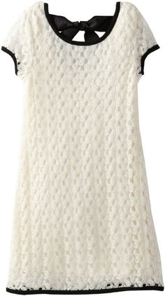 My Michelle Girls 7-16 Short Sleeve Crochet Dress with Contrast Trim Price:$37.99
