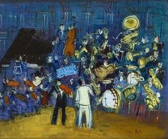 Jean Dufy - Concert, Oil On Canvas