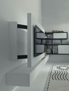 BOX - Moderne tv wandhalterung by Fimar Srl Support Mural Tv, Support Tv, Rack, Loft, Shelves, Free, Furniture, Points, Home Decor