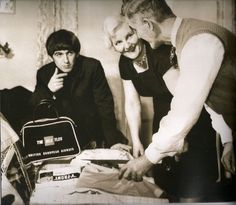 Beatle George Harrison with his parents Harold and Louise Harrison, circa early 1960's