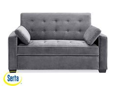 The Serta Augustine Sofa Bed by Lifestyle Solutions offers world class comfort plus versatile seating and sleeping utility. Featuring a sturdy wooden frame, plush cushioning, and soft fabric upholstery, this piece can be used as a sofa, lounger or bed. Full Size Sofa Bed, Full Sleeper Sofa, Sleeper Sectional, Full Bed, Funda Sofa Chaise Longue, Java, Pull Out Bed, Couch And Loveseat, Couches